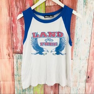 Sunset &Rose soft tee Land of the Free